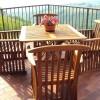 Lejlighedens private balkon