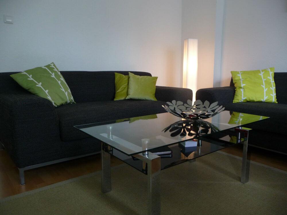 I stuen finder du disse to sofaer