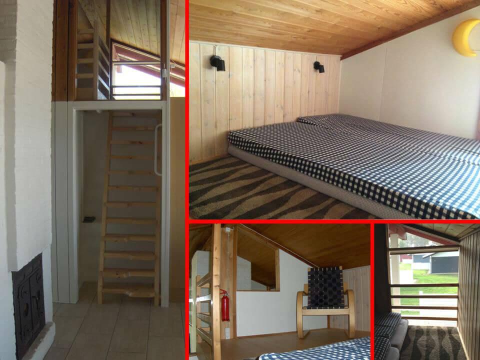 Hyggelig hems med to sovemuligheder. Smart trappe fører op til hems som børnene elsker