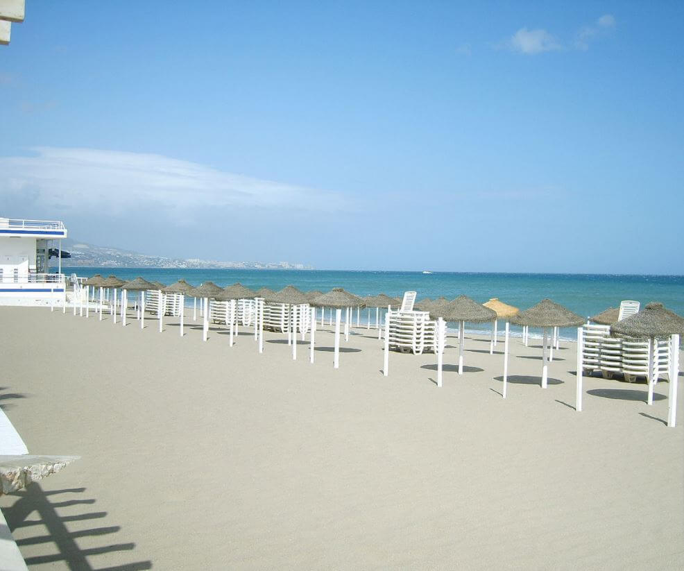 Strand og solen i Spania