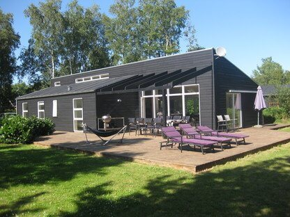 Ebeltoft, 8 personer, Spa, Sauna, Bordfodbold, Brændeovn, Internet, Hems med DVD