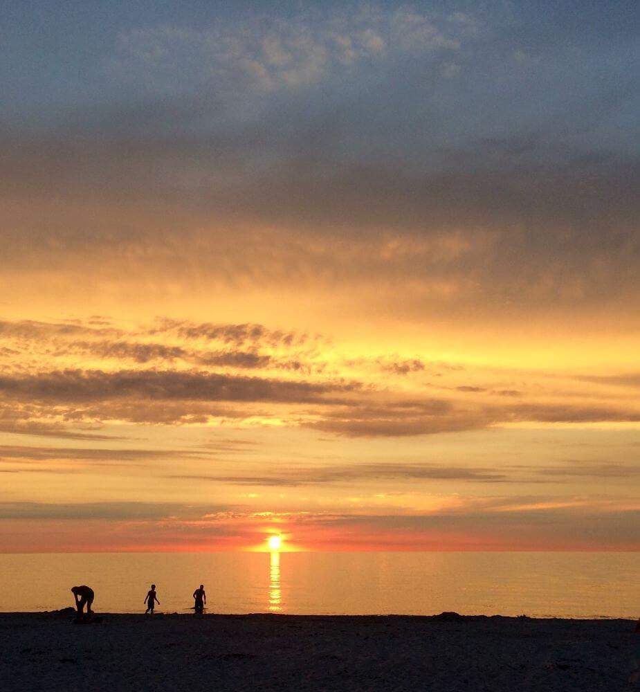 solnedgang ved Kattegat