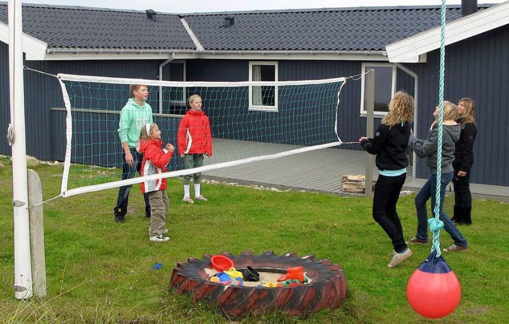 Fodboldmål og boldnet (volley/badminton)
